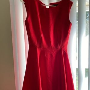 The Limited size 2 fit and flare red dress!